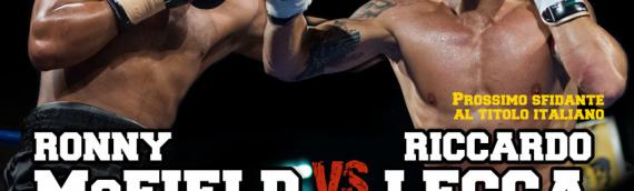25 Maggio 2013: Boxing Warfare II – Riccardo Lecca affronta Ronny McField in vista del match per il titolo italiano